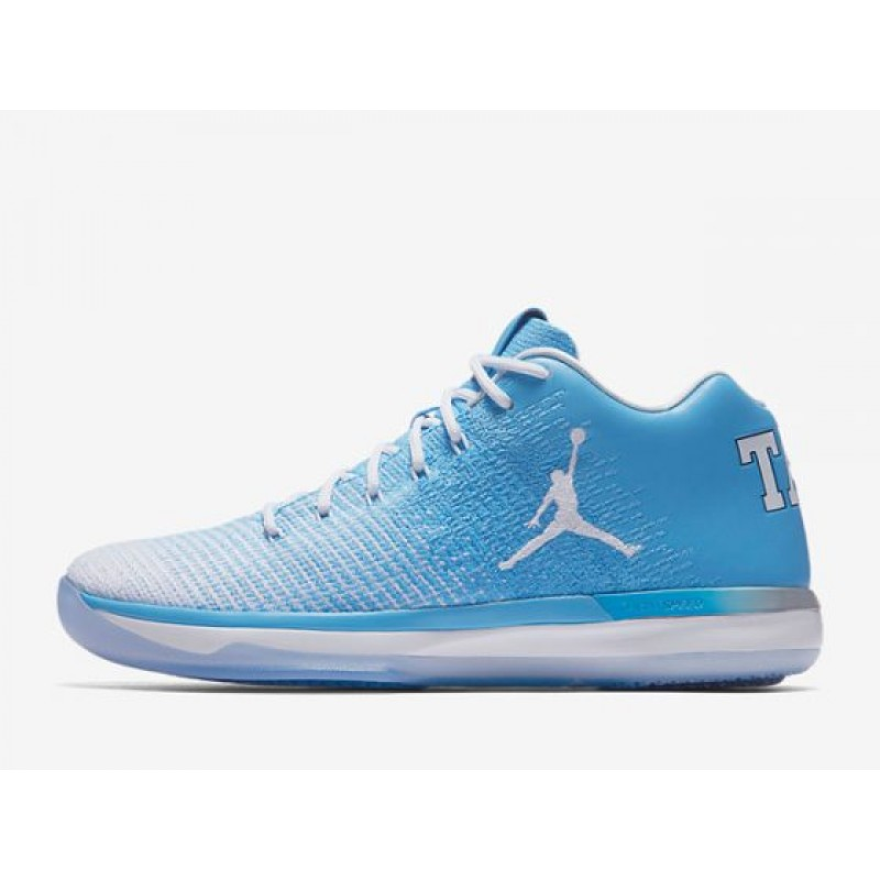 "Valentines Day Excellent Air Jordan XXX1 Low ""UNC"" University Blue/White-College Navy 897564-407"