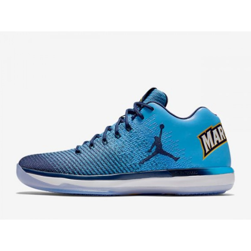 "Air Jordan XXX1 Low ""Marquette"" University Blue/Amarillo-Midnight Navy 897564-406"