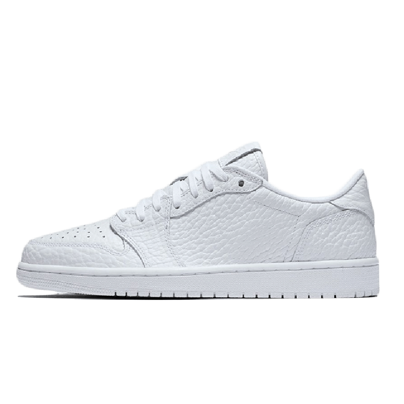"Air Jordan 1 Low ""No Swoosh"" Triple White 872782-100"