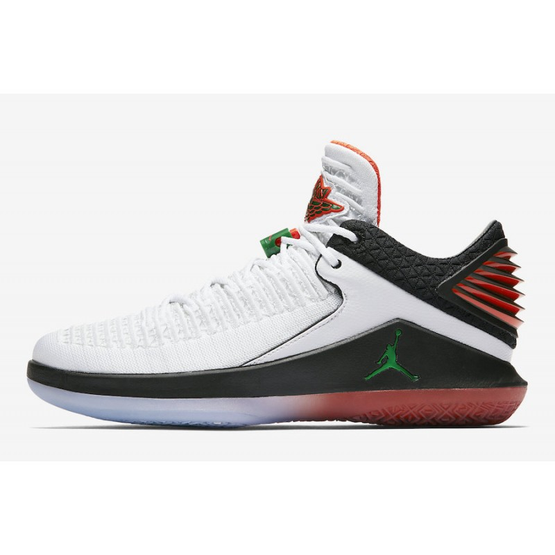 "Air Jordan 32 Low ""Like Mike"" Summit White/Black-Team Orange AA1256-100"