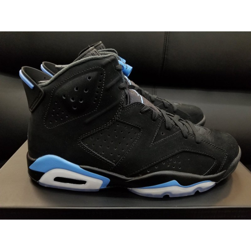 "Air Jordan 6 ""UNC"" Black/University Blue 384664-006"