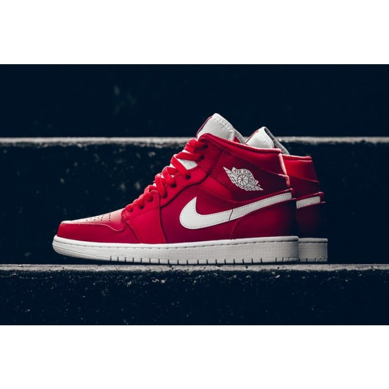 Air Jordan 1 Mid Gym Red Gym Red/White/White 554724-600