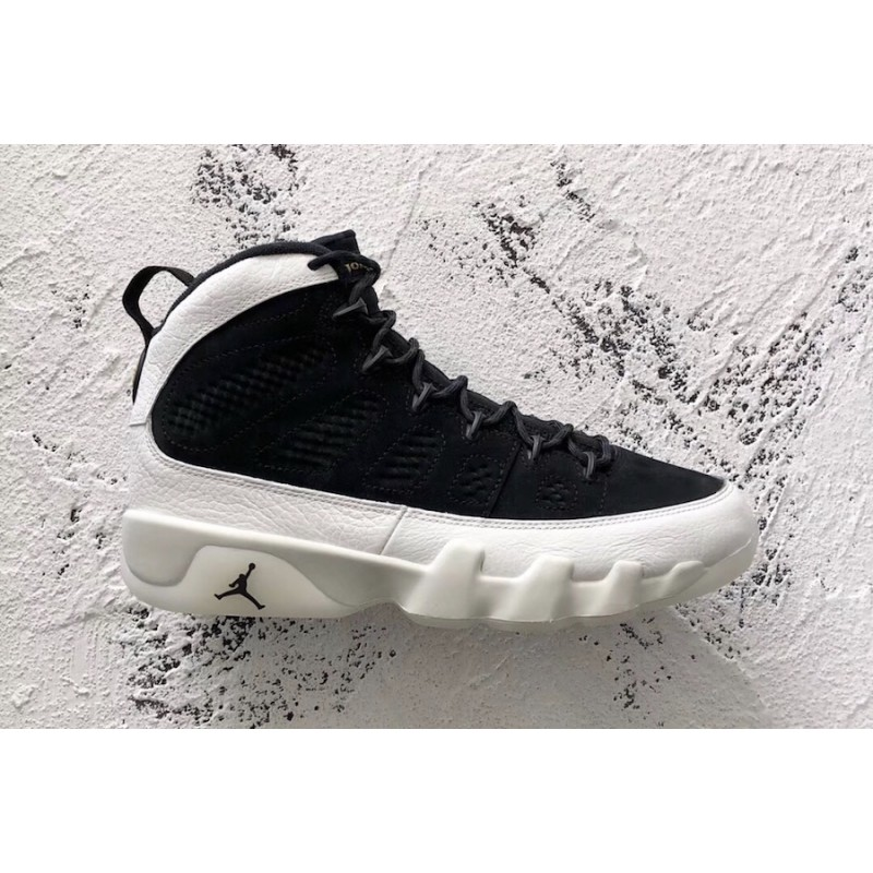 "Air Jordan 9 ""LA"" Black/Summit White-Black-Metallic Gold 302370-021"