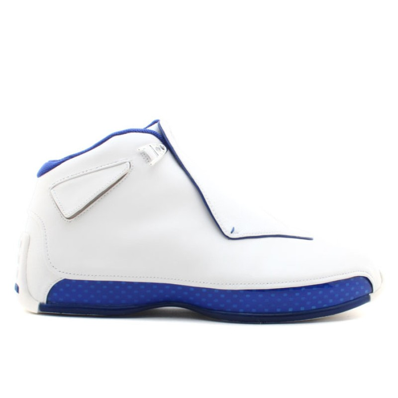 "Air Jordan 18 ""Sport Royal"" White/Sport Royal-White-Metallic Silver AA2494-106"