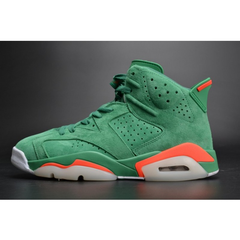 Air Jordan 6 Gatorade Green Suede Pine Green/Orange Blaze-Pine Green AJ5986-335