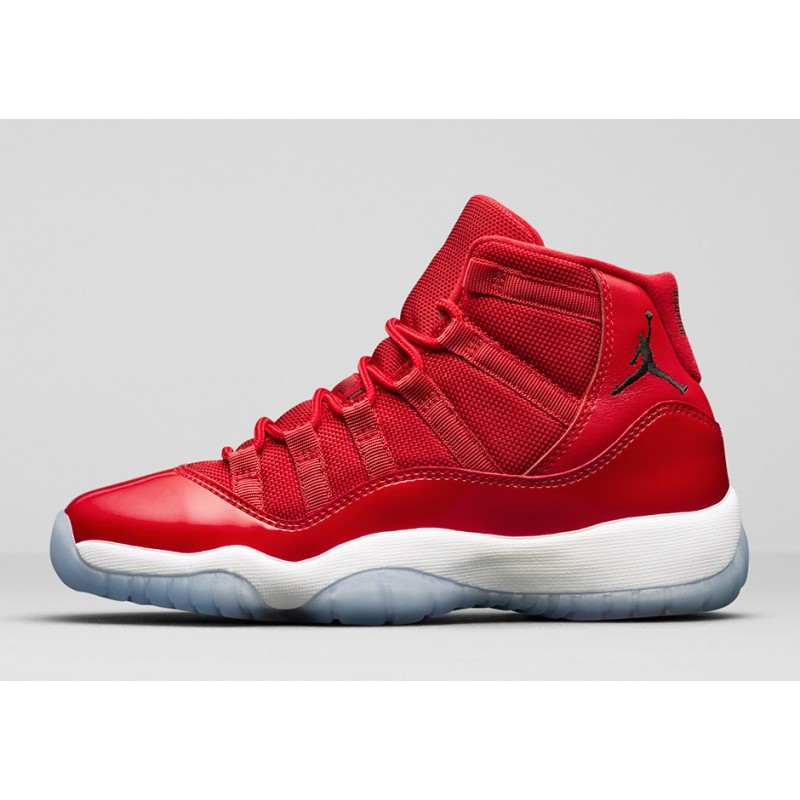 "Air Jordan 11 ""Win Like 96"" Gym Red/White-Black 378037-623"