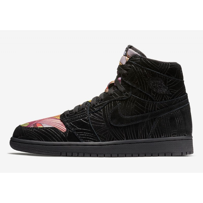 "Air Jordan 1 ""Los Primeros"" Black/Multi-Color-Black AH7739-001"