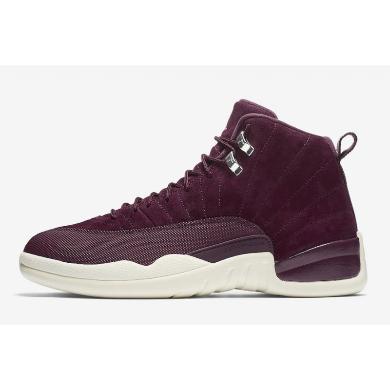 "Air Jordan 12 ""Bordeaux"" Bordeaux/Sail/Metallic Silver 130690-617"