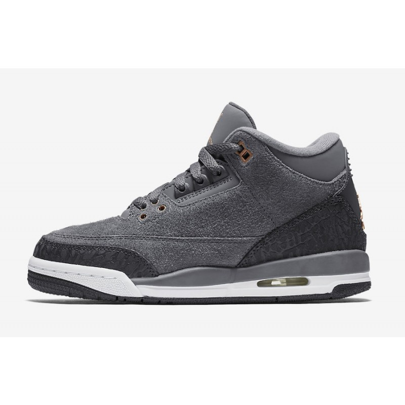 "Air Jordan 3 ""Anthracite"" ​Anthracite/Metallic Red Bronze-White-Dark Grey​ 441140-035"