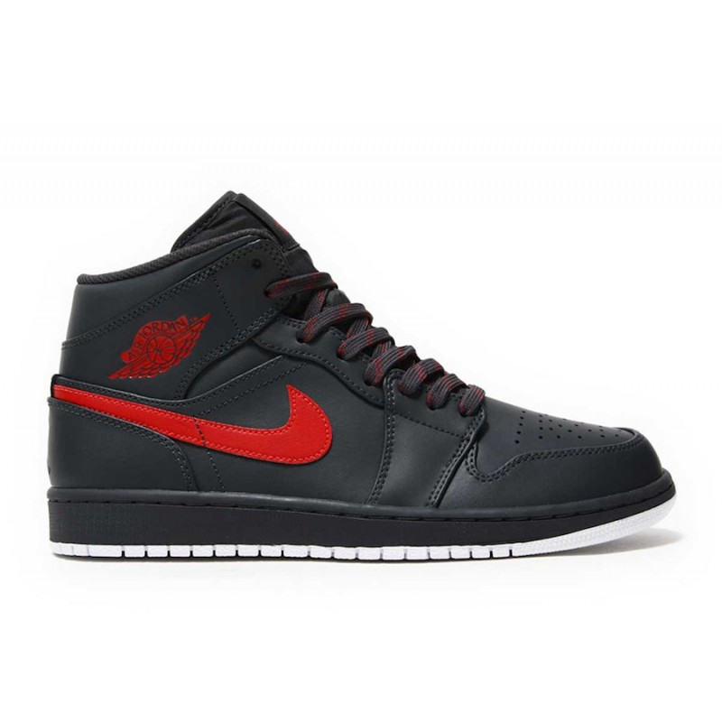 Air Jordan 1 Mid Anthracite Anthracite/Gym Red-White 554724-045