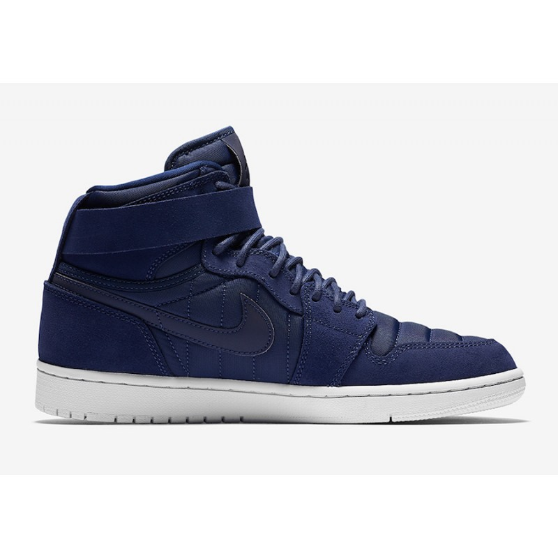 "Air Jordan 1 High Strap ""Midnight Navy"" Midnight Navy-White 342132-400"