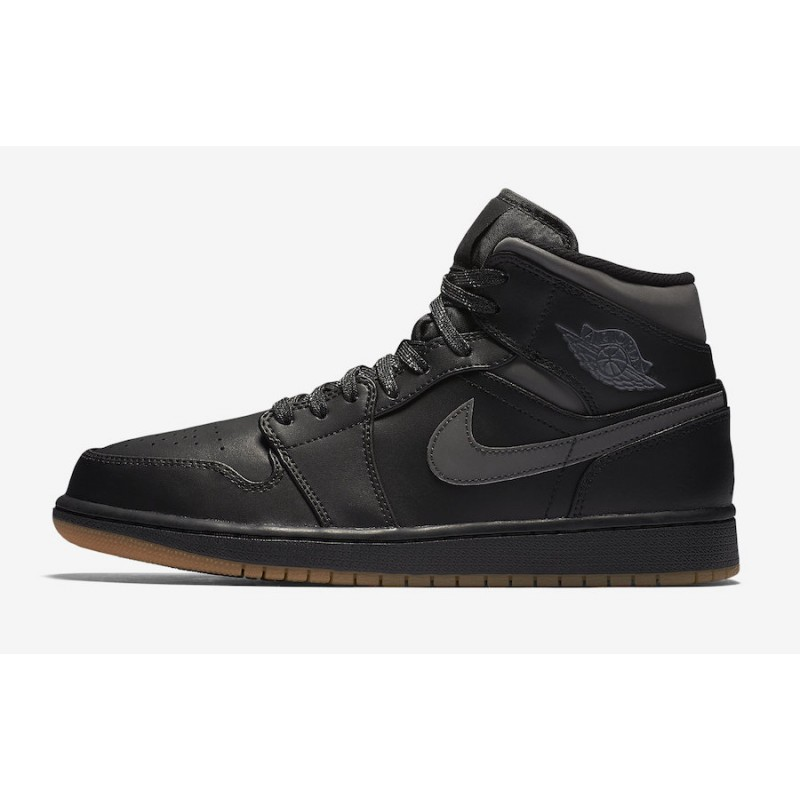 Air Jordan 1 Mid Winterized Black/Anthracite-Gum Yellow AA3992-002