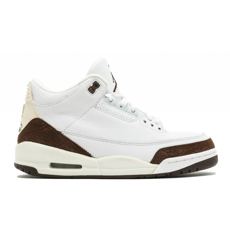 "Air Jordan 3 ""Mocha"" White/Chrome-Dark Mocha 136064-122"