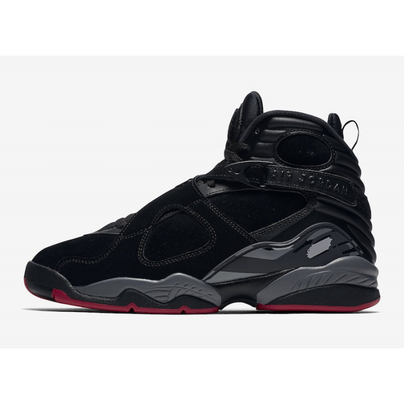 "Air Jordan 8 ""Bred"" Black/Gym Red-Black-Wolf Grey 305381-022"