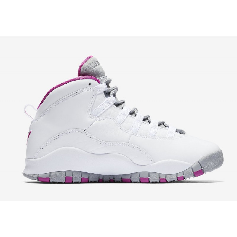 "Air Jordan 10 ""Maya Moore"" White/White-Fuchsia Flash-Wolf Grey AA2900-159"