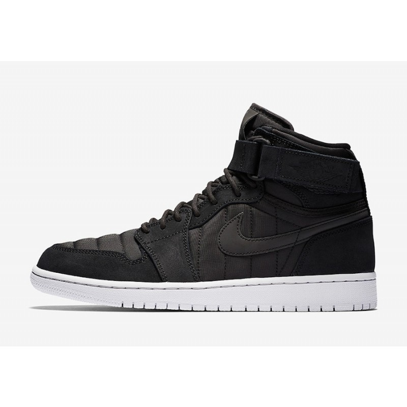 "Air Jordan 1 High Strap ""Padded Pack"" Black/Pure Platinum-Anthracite 342132-004"