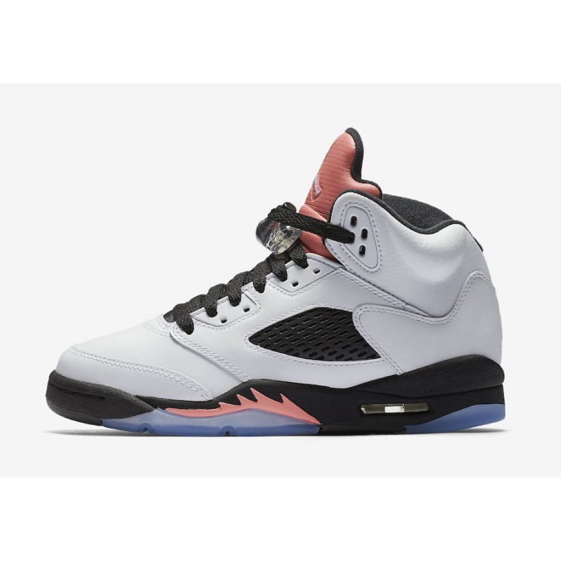 "Air Jordan 5 GS ""Sunblush"" White/Sunblush-Black 440892-115"