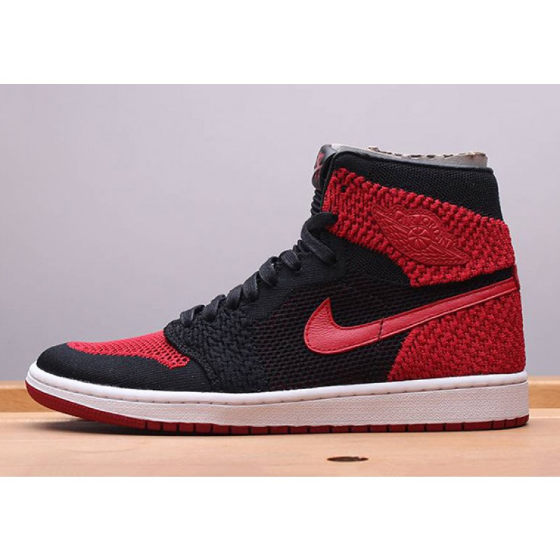 "Air Jordan 1 Flyknit ""BANNED"" Black 919704-001 Black Friday"
