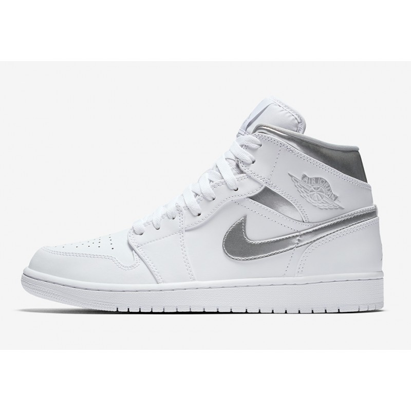 Air Jordan 1 Mid White 554724-105 Cyber Monday