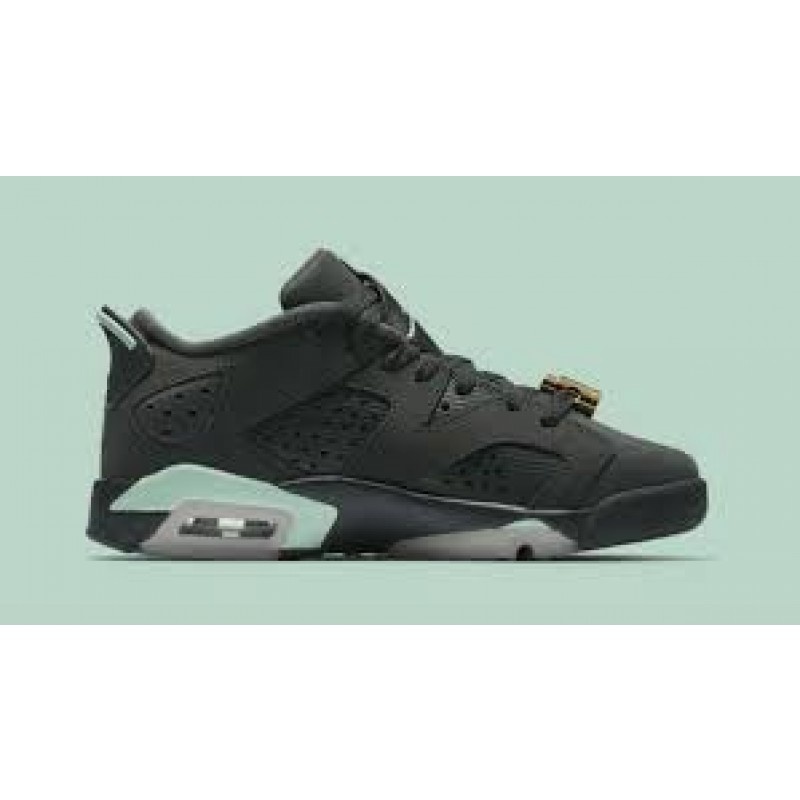 "Air Jordan 6 Low GG ""MINT FOAM"" Black 768878-015 Cyber Monday"