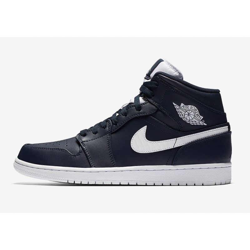 Air Jordan 1 Mid Blue 554724-402 Black Friday