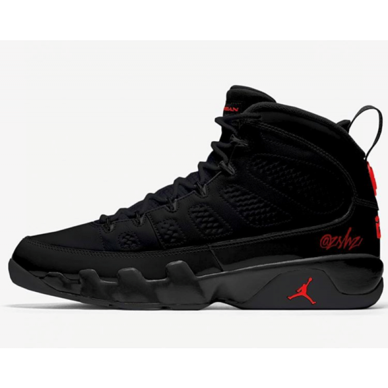 "Air Jordan 9 ""BRED"" Black 302370-014 Cyber Monday"
