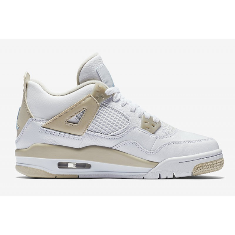 "Air Jordan 4 GS ""LINEN"" White 487724-118 Black Friday"