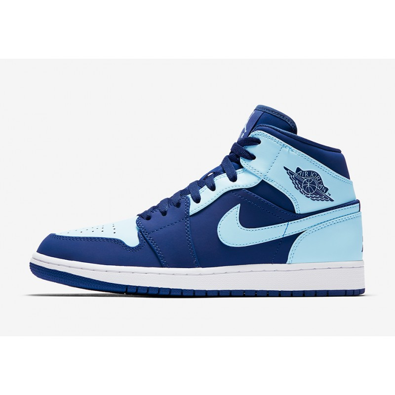 "Air Jordan 1 Mid ""ICE Blue"" Blue 554724-400 Black Friday"