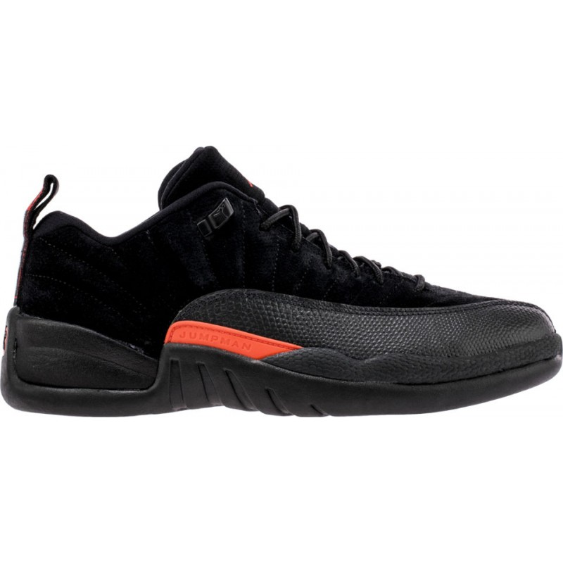 "Air Jordan 12 Low ""MAX ORANGE"" Black 308317-003 Cyber Monday"