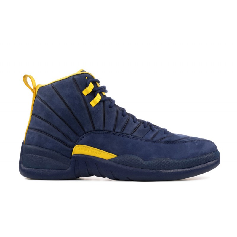 "Air Jordan 12 ""Michigan"" College Navy/Amarillo - BQ3180-407"