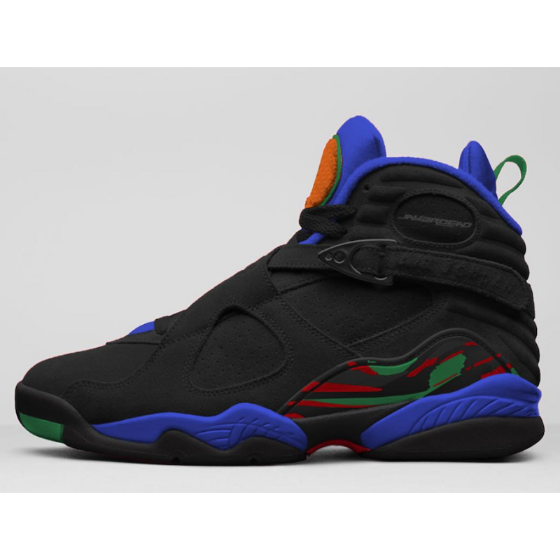 Air Jordan 8 Black/Light Concord/Blue-University Red - 305381-004