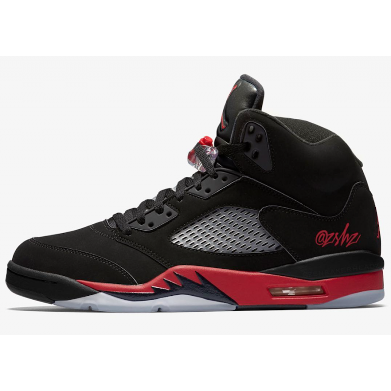 Air Jordan 5 Black/University Red - 136027-006
