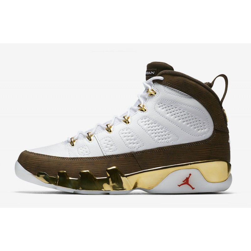 "Air Jordan 9 ""Melo"" Gold/Brown - 302370-122"