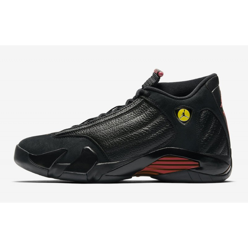 "Air Jordan 14 ""Last Shot"" Black/Varsity Red-Black - 487471-003"