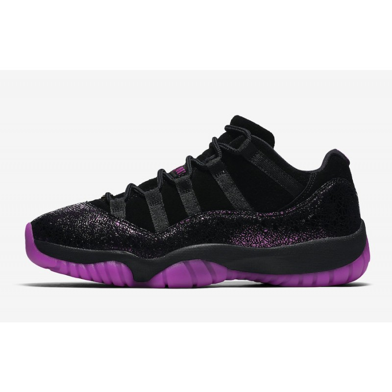 "Air Jordan 11 Low ""Rook To Queen"" Black/Fuchsia Blast - AR5149-005"