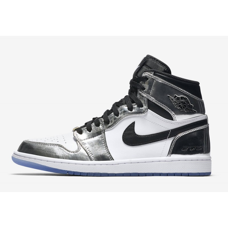 "Air Jordan 1 High ""Pass The Torch"" Chrome/White-Turbo Green-Black - AQ7476-016"