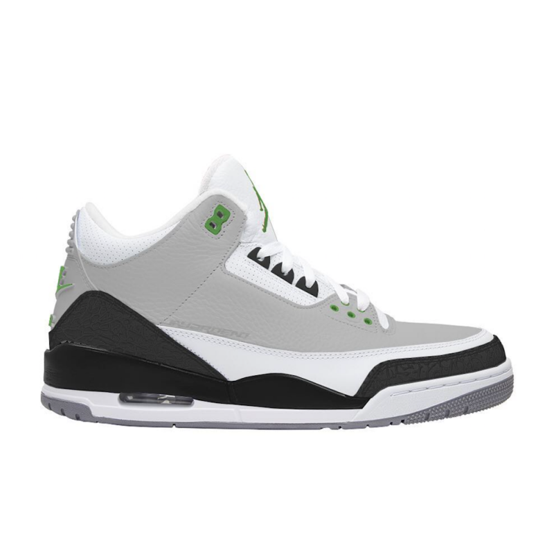 "Air Jordan 3 ""Chlorophyll"" Light Smoke Grey/Chlorophyll-Black - 136064-006"