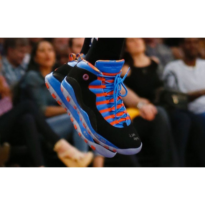 Air Jordan 10 Racer Blue/Black-Team Orange - 310805-408