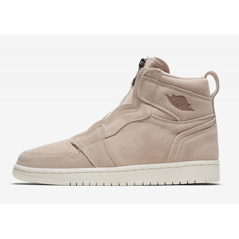 Air Jordan 1 High Zip Particle Beige/Metallic Red Bronze - AQ3742-205