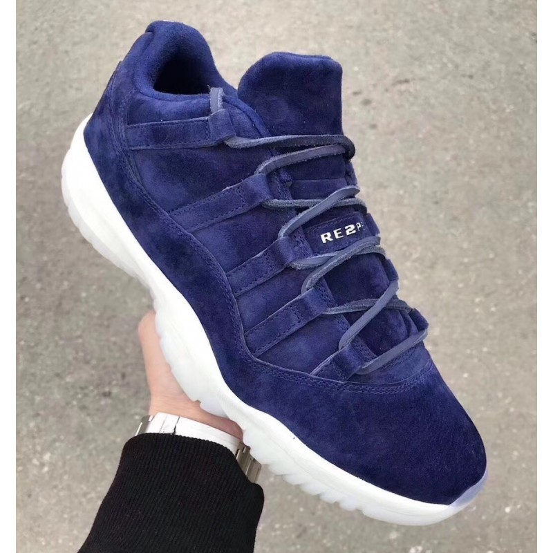"Air Jordan 11 Low ""RE2PECT"" Binary Blue/Sail-Binary Blue - AV2187-441"