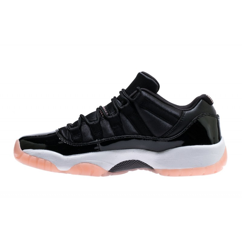 Air Jordan 11 Low GS Black/Bleached Coral-White - 580521-013