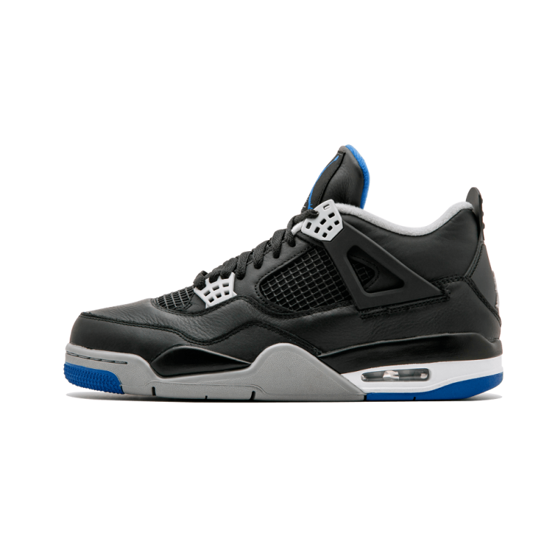 "Air Jordan 4 Retro ""Alternate Motorsports"" Black/Game Royal-Matte Silver 308497-006"