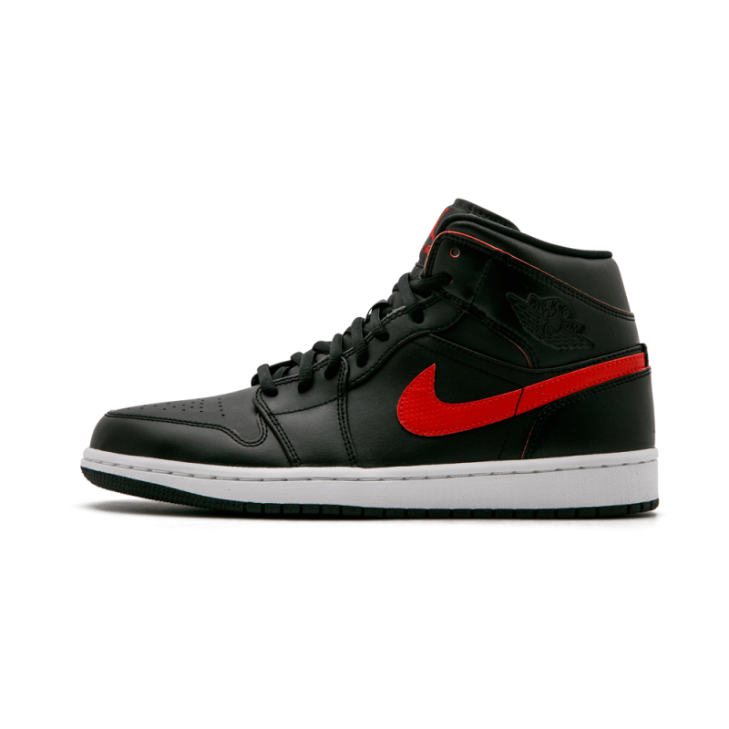 Air Jordan 1 Mid Black/Team Red-Team Red-White 554724-009 Cyber Monday