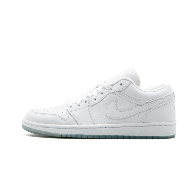 Air Jordan 1 Retro Low White/White-Metallic Silver 309192-111 Cyber Monday