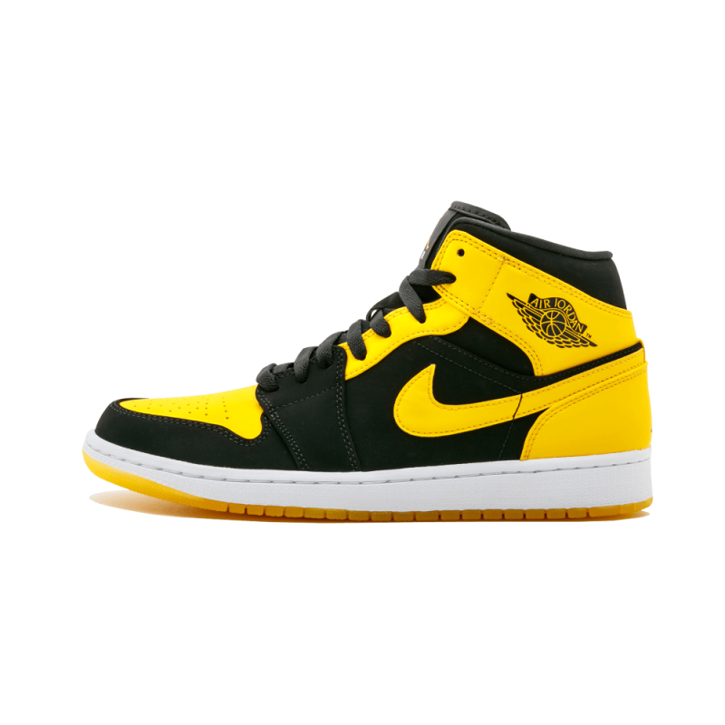 "Air Jordan 1 Mid ""New Love 2017 Release"" Black/Varsity Maize-White 554724-035"