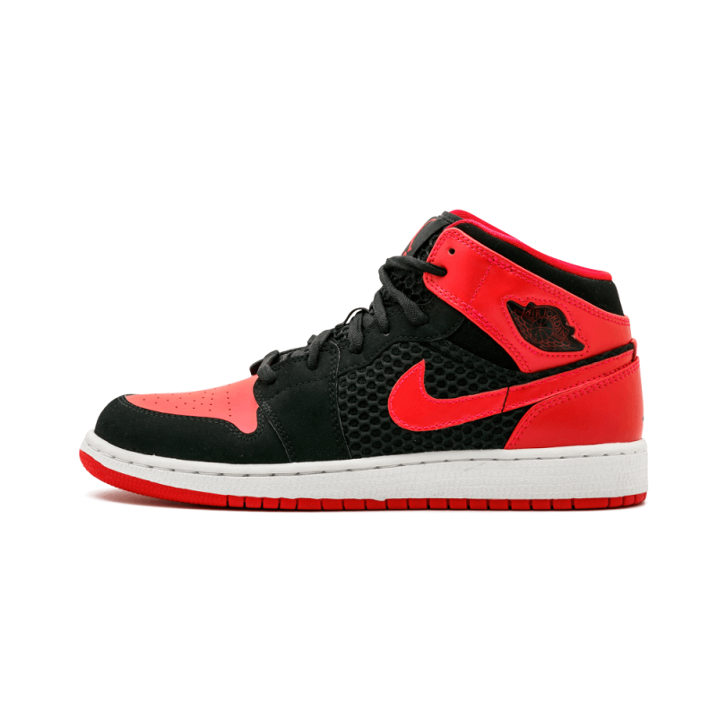 Air Jordan 1 Phat WMNS Black/Siren Red-White 364781-017 Cyber Monday