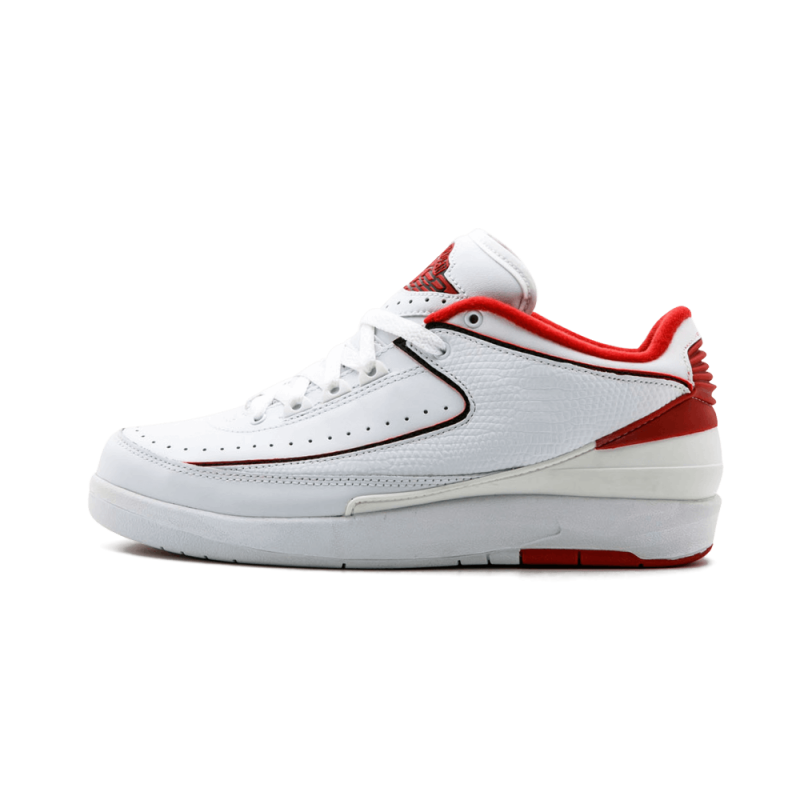 Air Jordan 2 Retro Low White/Black/Red 309837-101 Black Friday