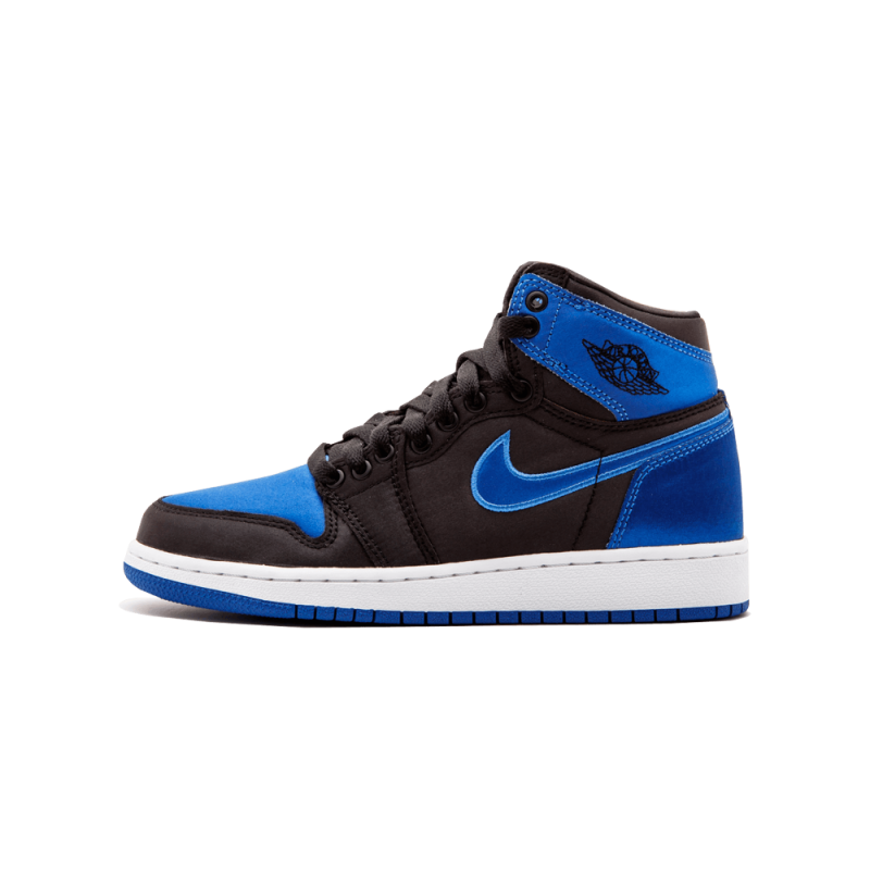 "Air Jordan 1 Retro Hi OG WMNS EP ""Satin"" Black/Varsity Royal-White AA4073-007"