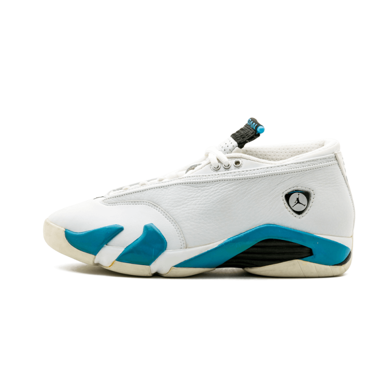 Air Jordan 14 Low White/Blue-Black 136019-101 Black Friday