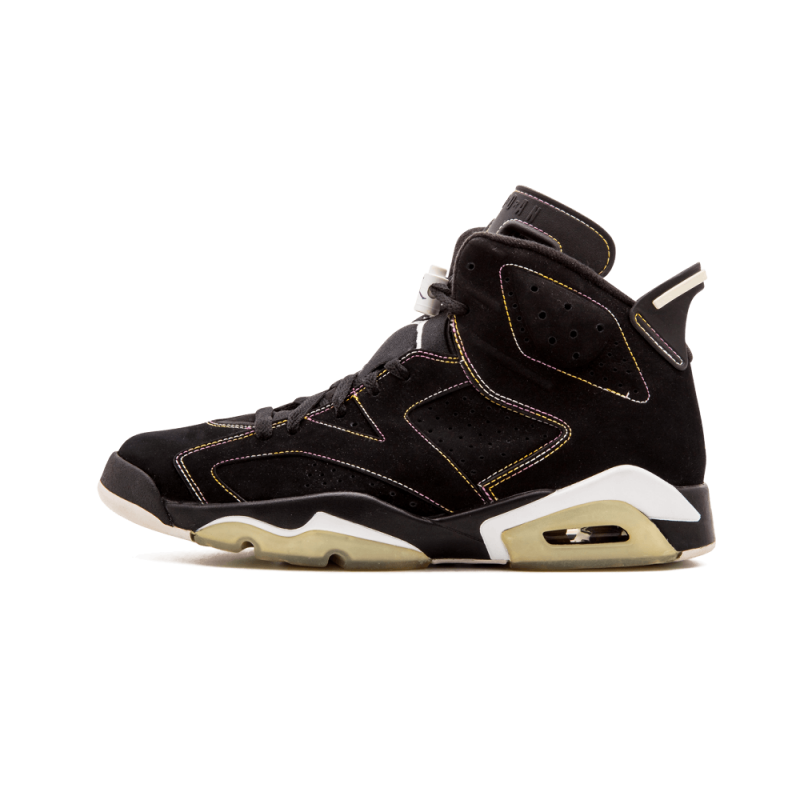 "Air Jordan 6 ""Lakers"" Black/White-YelLow-Purple 384664-002"